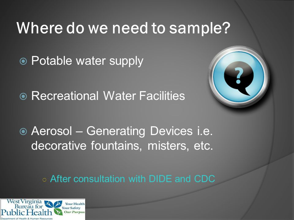 Where do we need to sample.