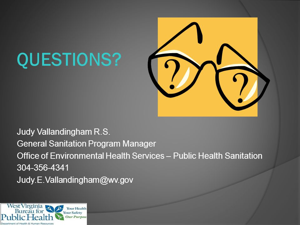 QUESTIONS. Judy Vallandingham R.S.