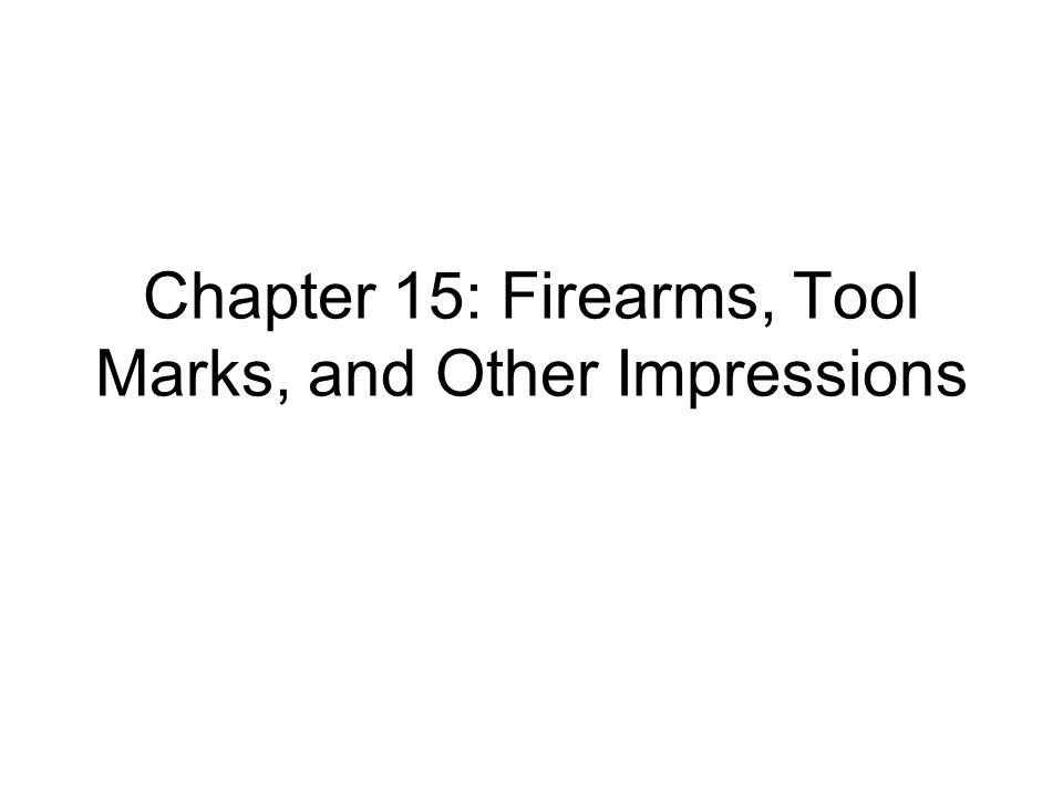 Introduction Crimes that involve firearms often require analysis of bullets that are collected as evidence As a bullet is shot from a firearm, each gun creates an impression onto the bullet