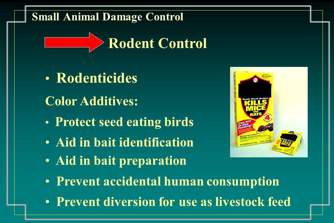 Small Animal Damage Control Specific Products Commonly Used Strychnine Zinc Phosphide Anticoagulants Aluminum Phosphide