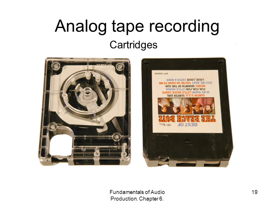 Fundamentals of Audio Production. Chapter Analog tape recording Cartridges