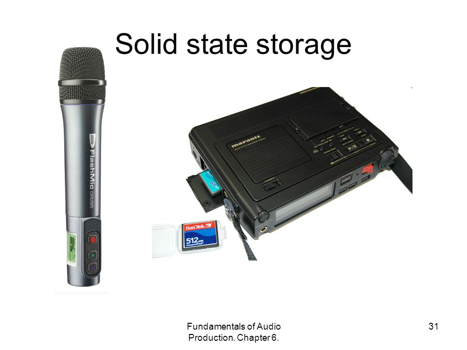 Fundamentals of Audio Production. Chapter 6. 31 Solid state storage