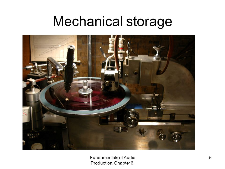Fundamentals of Audio Production. Chapter 6. 5 Mechanical storage