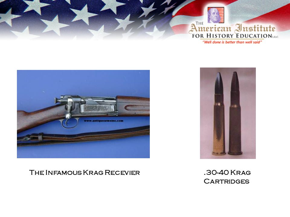 The Infamous Krag Recevier.30-40 Krag Cartridges