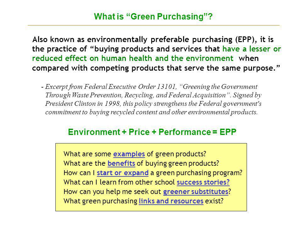 What is Green Purchasing.