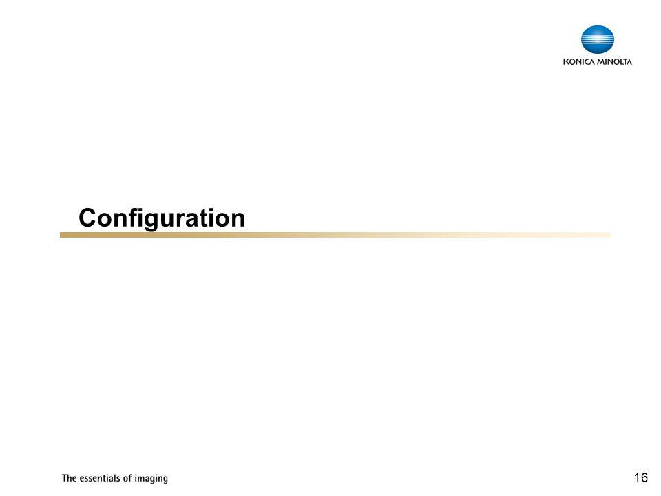 16 Configuration