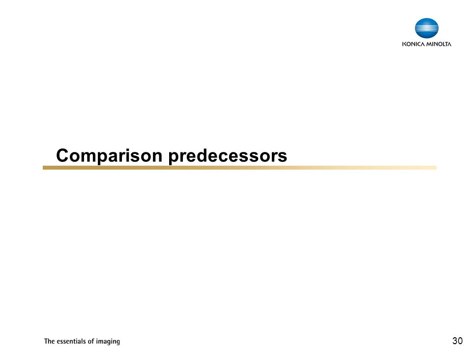 30 Comparison predecessors