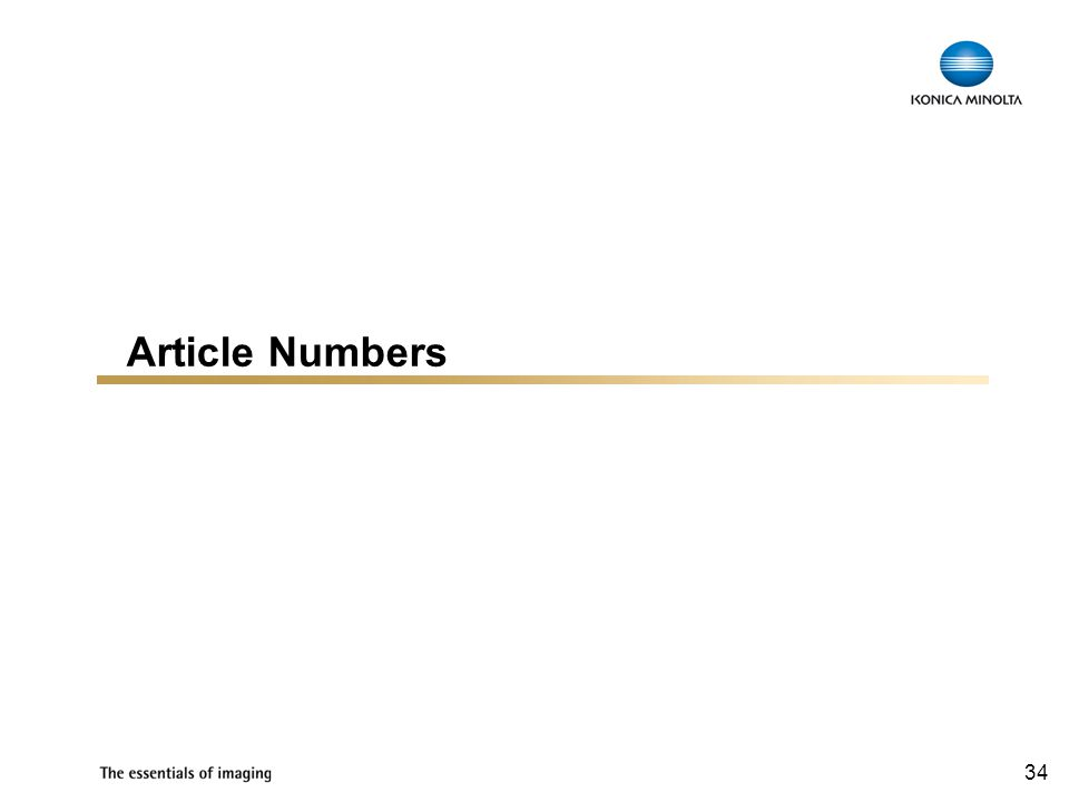 34 Article Numbers