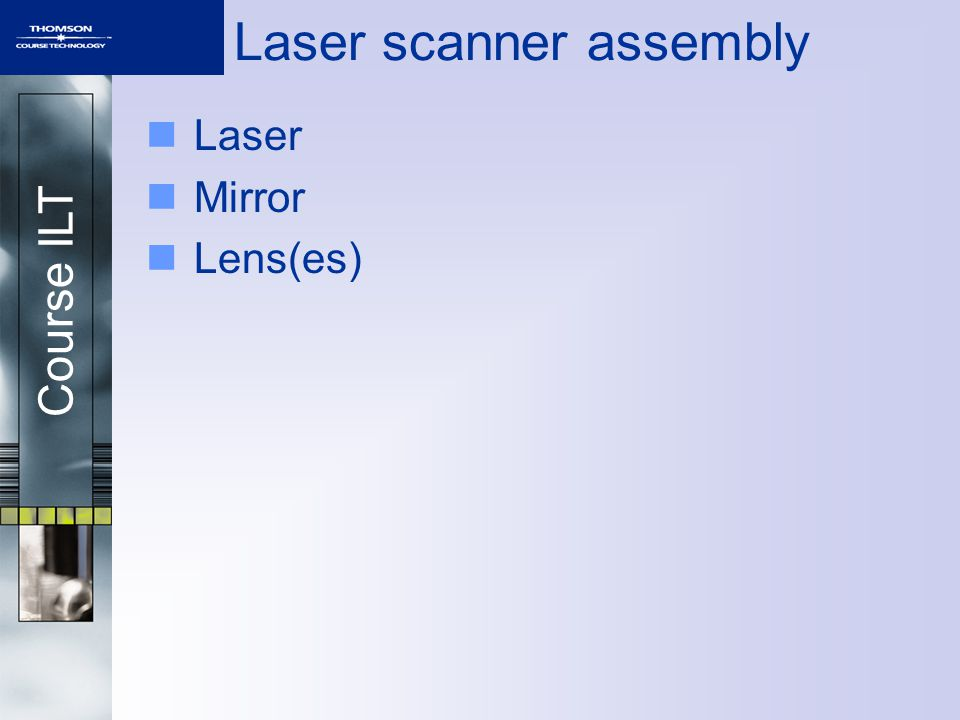 Course ILT Laser scanner assembly Laser Mirror Lens(es)