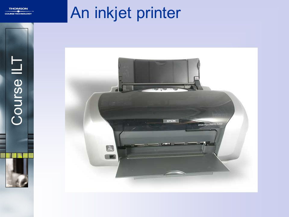 Course ILT An inkjet printer