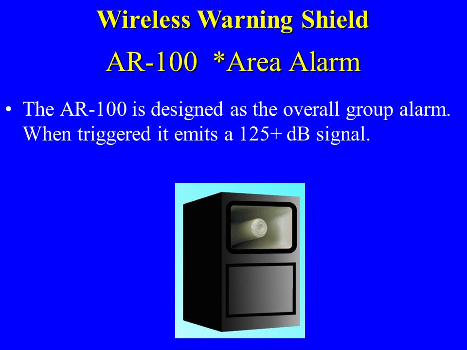 Receivers and Warning Devices Wireless Warning Shield