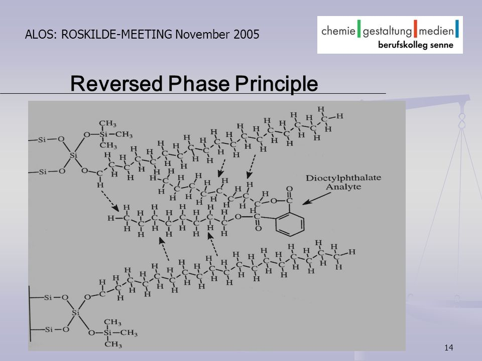 14 ALOS: ROSKILDE-MEETING November 2005 Reversed Phase Principle