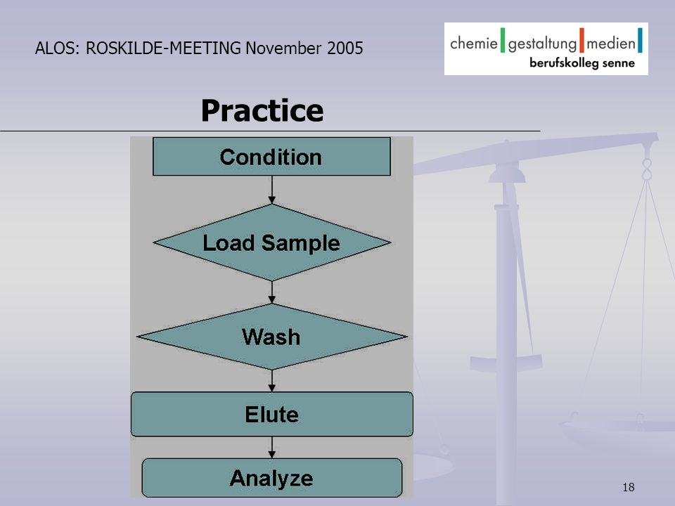 18 ALOS: ROSKILDE-MEETING November 2005 Practice