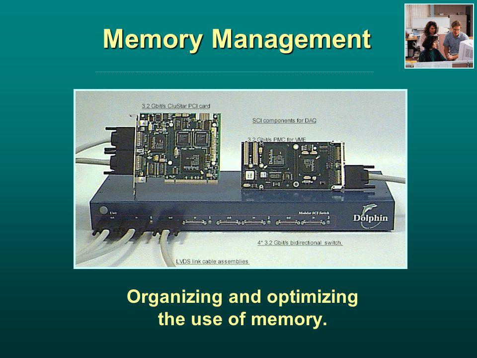 Memory Management Organizing and optimizing the use of memory.