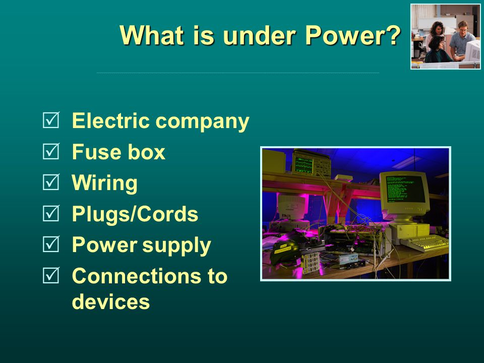 What is under Power.