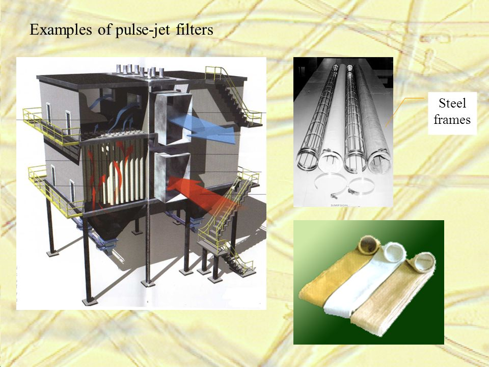Examples of pulse-jet filters Steel frames