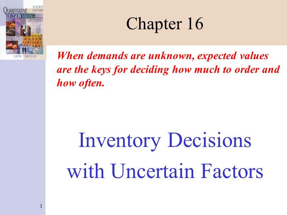 22 Newsvendor Problem (Figure 16-3) 1.Enter the problem name in C3.