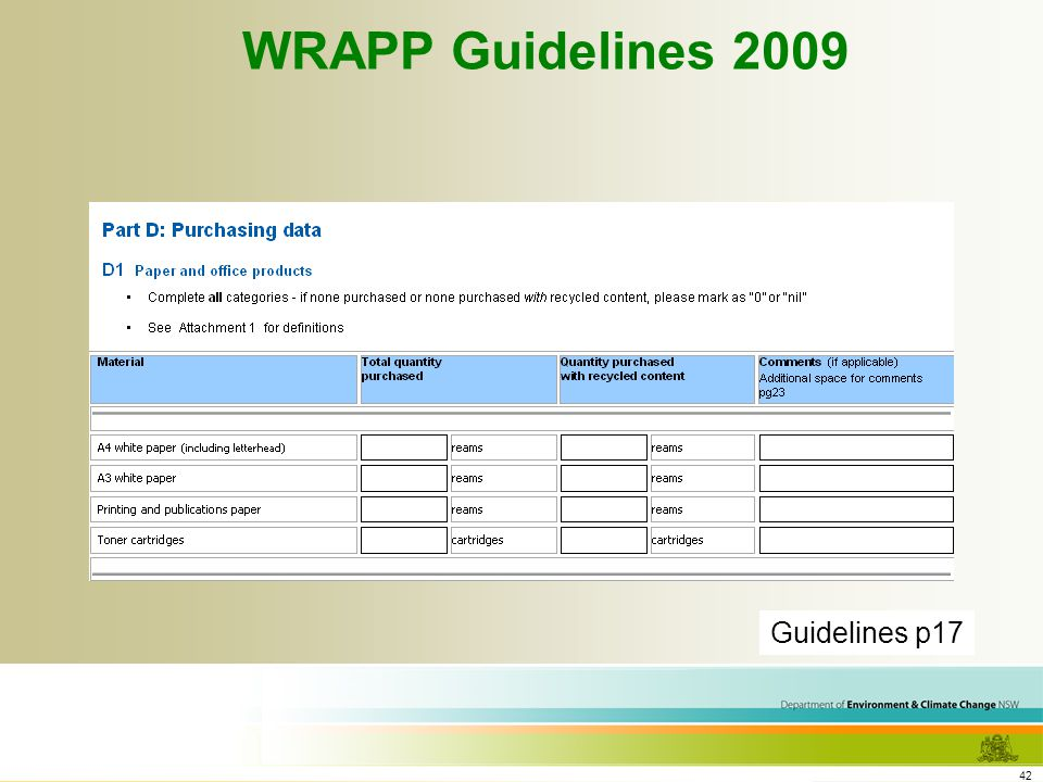 42 WRAPP Guidelines 2009 Guidelines p17