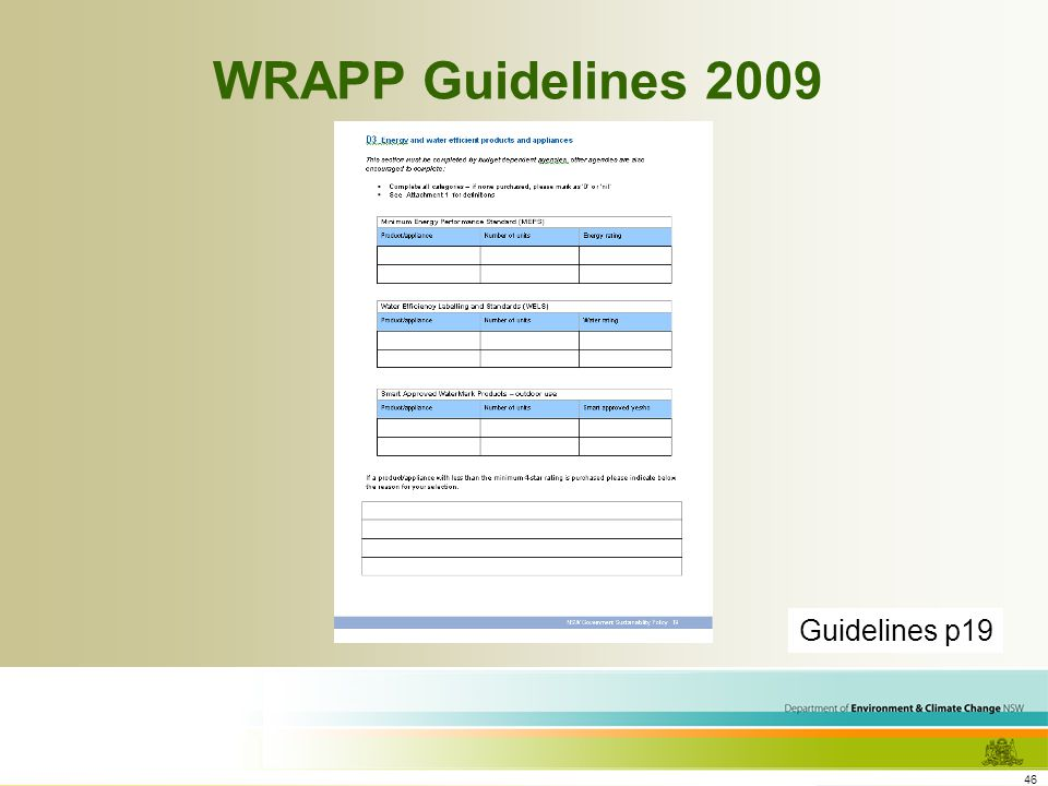 46 WRAPP Guidelines 2009 Guidelines p19