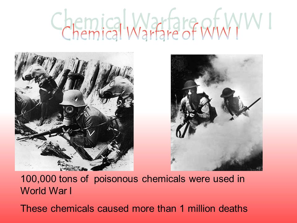 The French were the first to use chemical weapons during the First World War.
