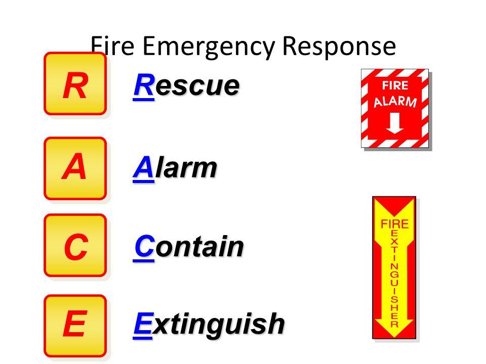 Fire Emergency Response R Rescue Alarm Contain Extinguish A C E