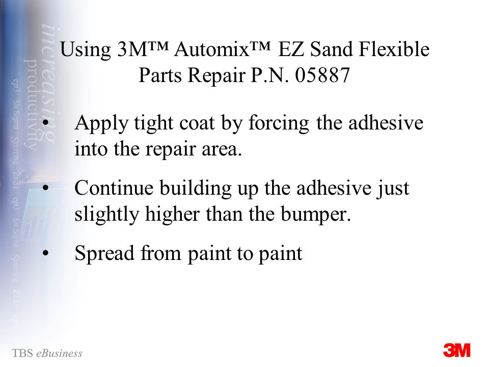 Using 3M Automix EZ Sand Flexible Parts Repair P.N.