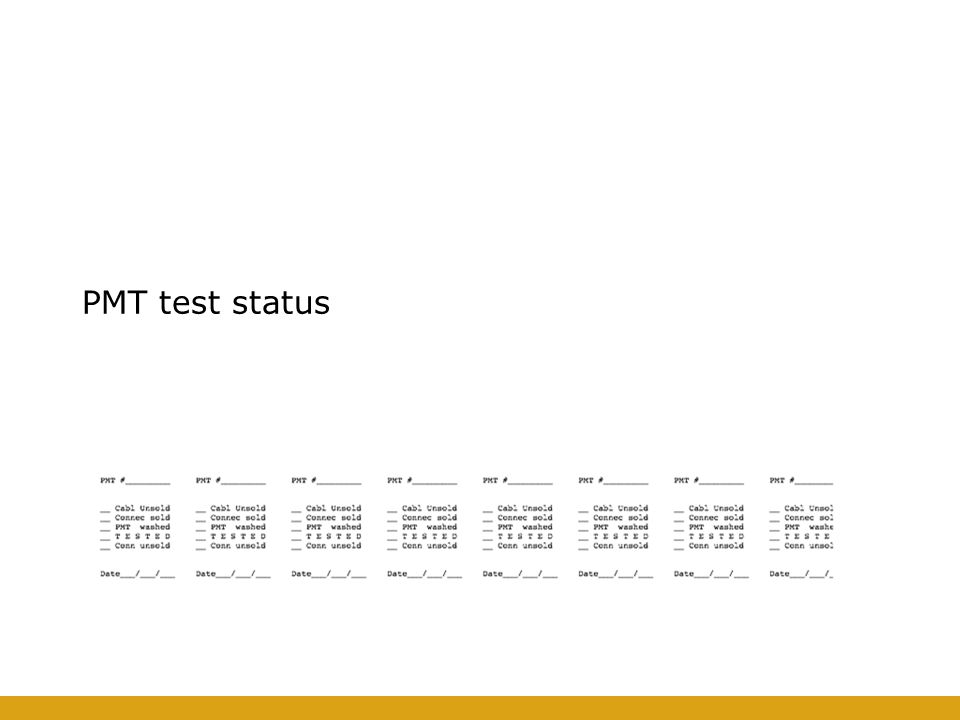 33/55 Pisa PMT facility Description of the Facility Description of the test procedure Results on the first bunch of PMTs