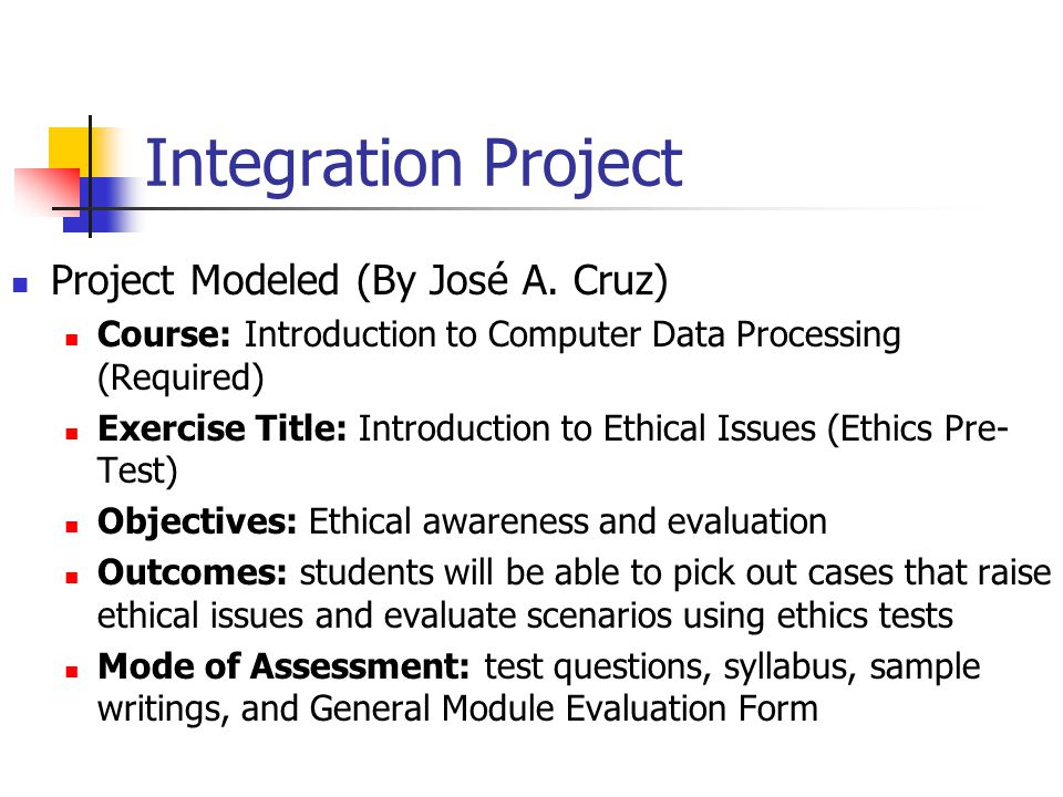 What You Can Do Integration Projects