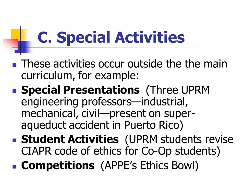 B. Ethics Integration Activities Todays Two Examples: Introductory Ethics Module for Introduction to Computers (Dr. Cruzs exercise) Introduces student