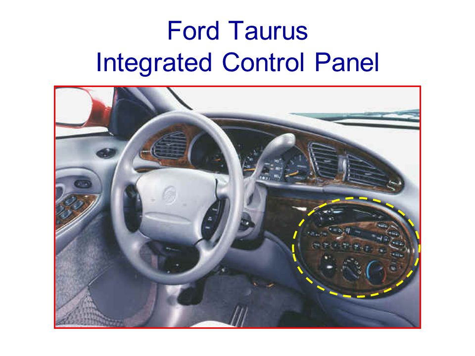 Ford Taurus Integrated Control Panel
