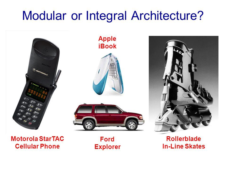 Modular or Integral Architecture? Motorola StarTAC Cellular Phone Rollerblade In-Line Skates Ford Explorer Apple iBook