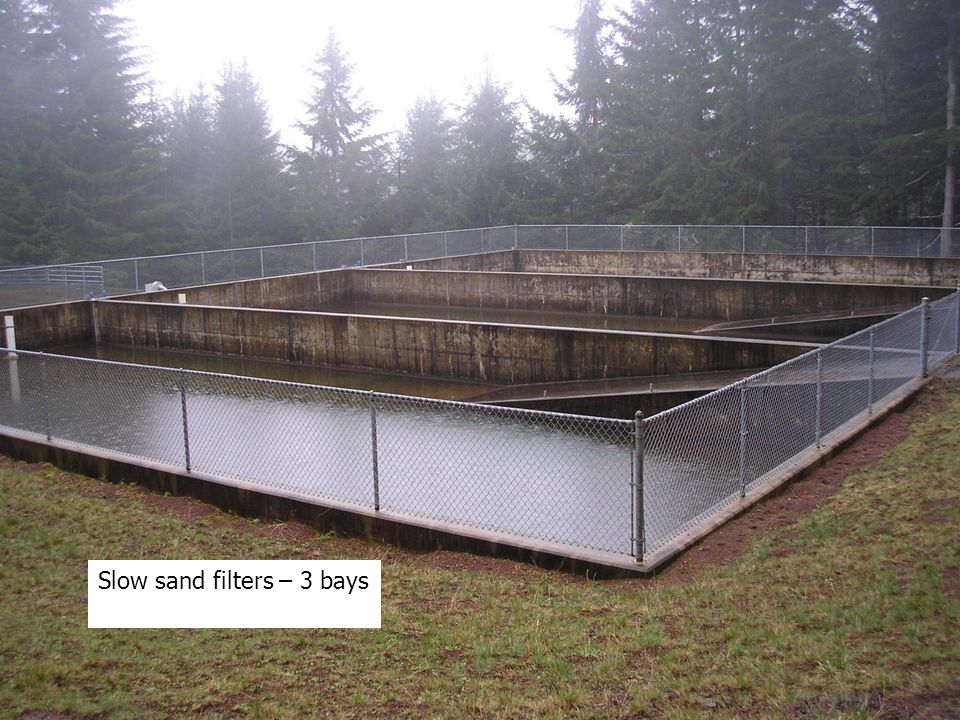 Slow sand filters – 3 bays