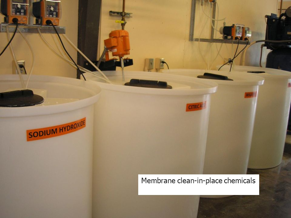 Membrane clean-in-place chemicals