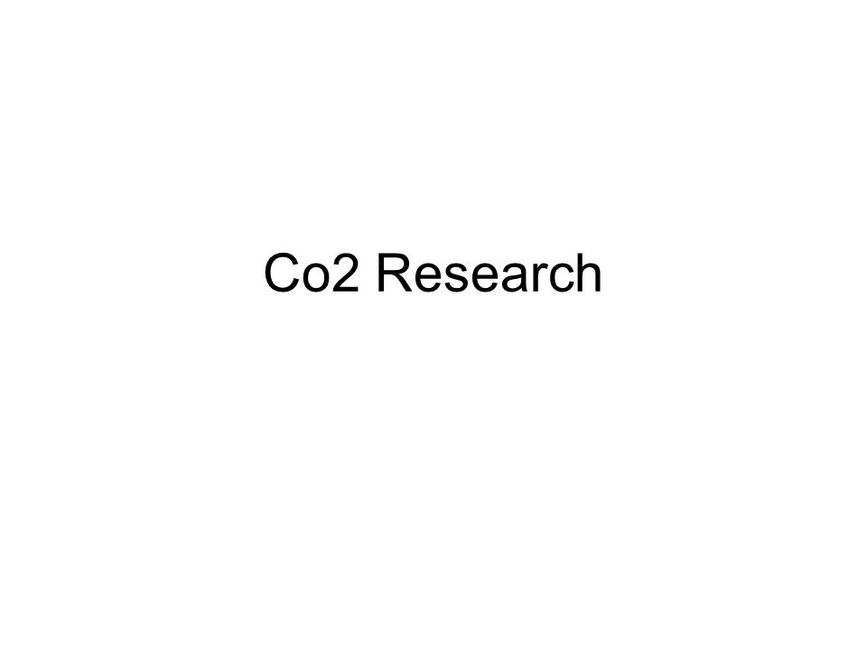 Co2 Research