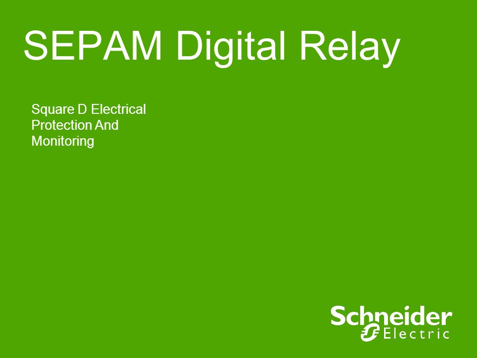SEPAM Digital Relay Square D Electrical Protection And Monitoring