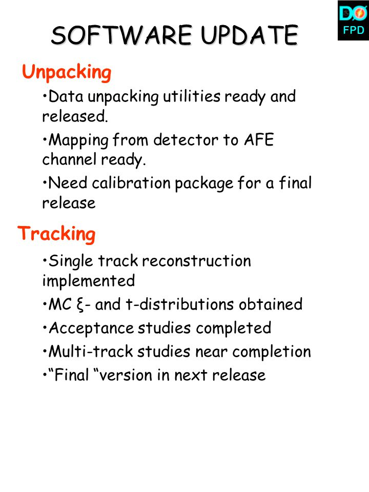 FPD SOFTWARE UPDATE Unpacking Data unpacking utilities ready and released.