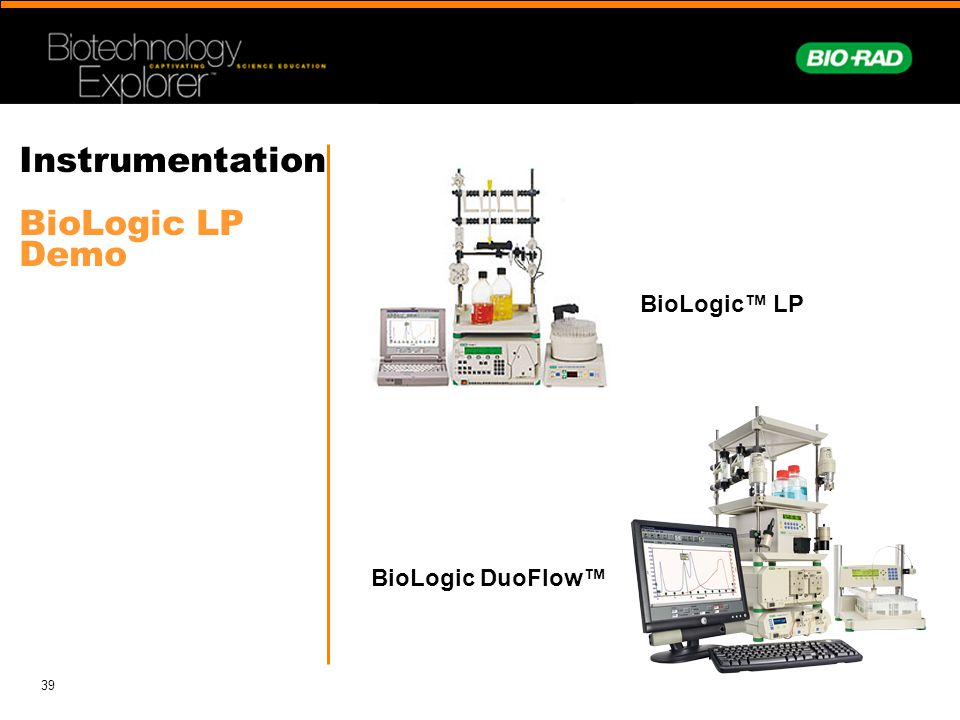 39 Instrumentation BioLogic LP Demo BioLogic LP BioLogic DuoFlow