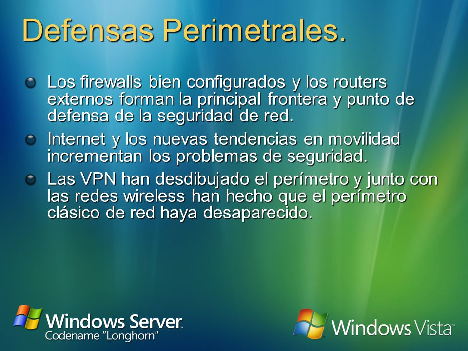 El modelo de Defensa en profundidad Antivirus/ OS hardening, authentication, patch management, HIDS Firewalls, Network Access Quarantine Control Guard