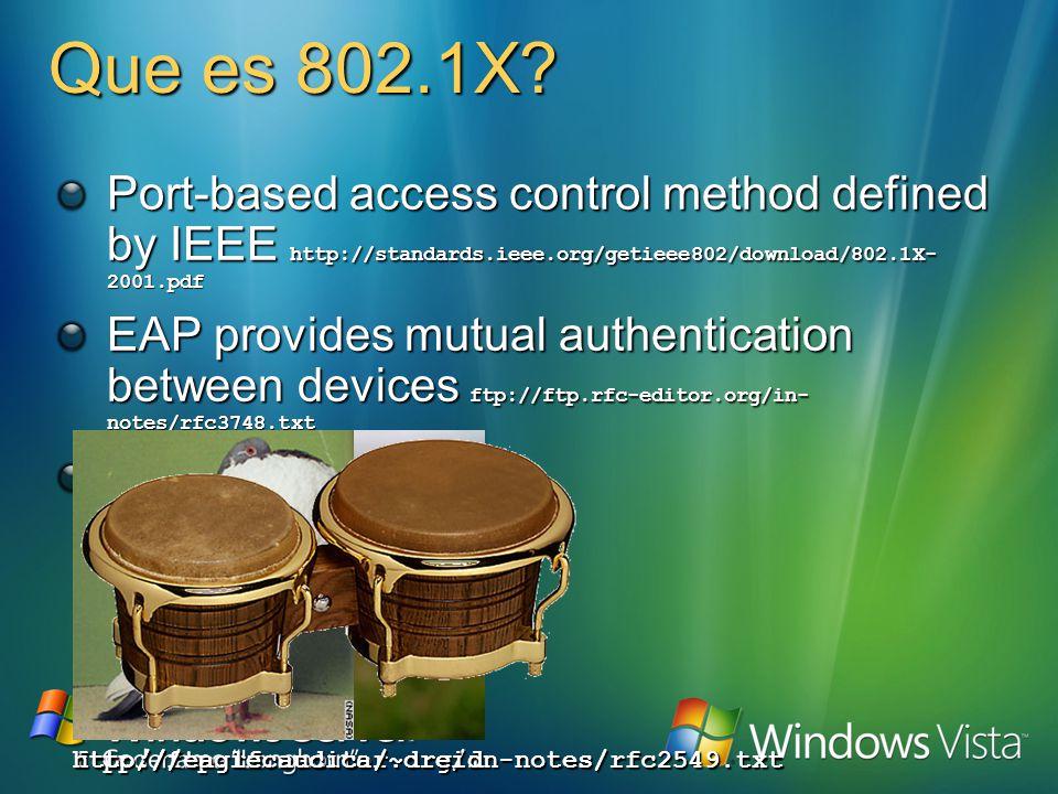 Los problemas de 802.1X
