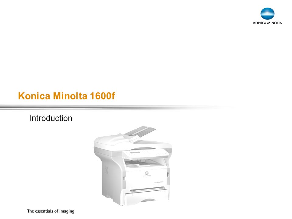 Konica Minolta 1600f Introduction