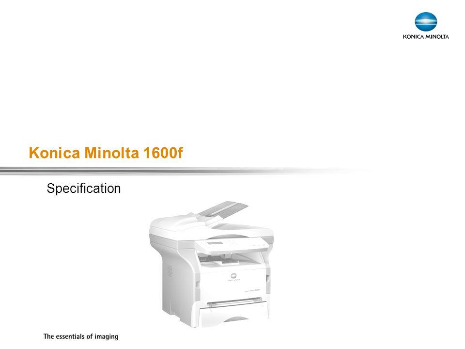Konica Minolta 1600f Specification