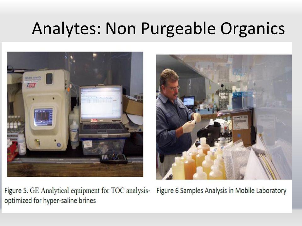 Analytes: Non Purgeable Organics