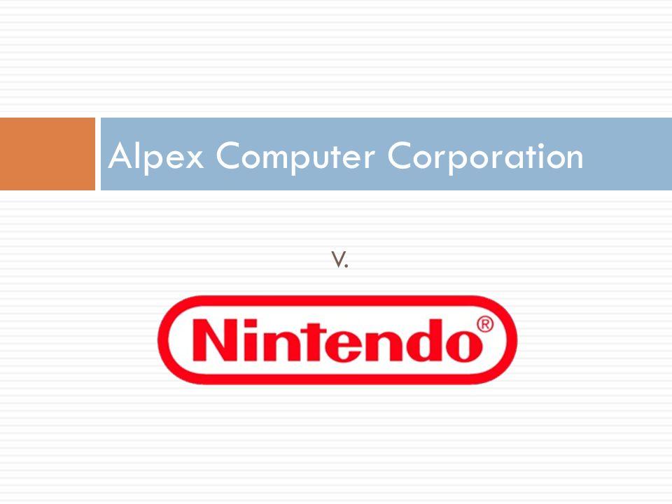 V. Alpex Computer Corporation