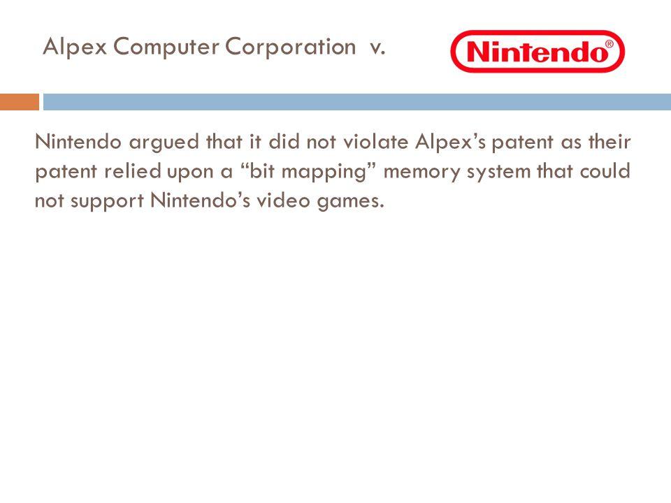 Alpex Computer Corporation v.