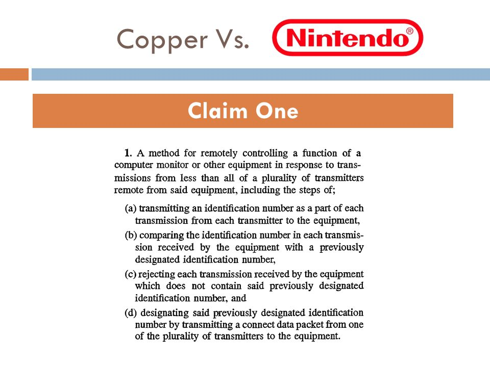 Copper Vs. Claim One