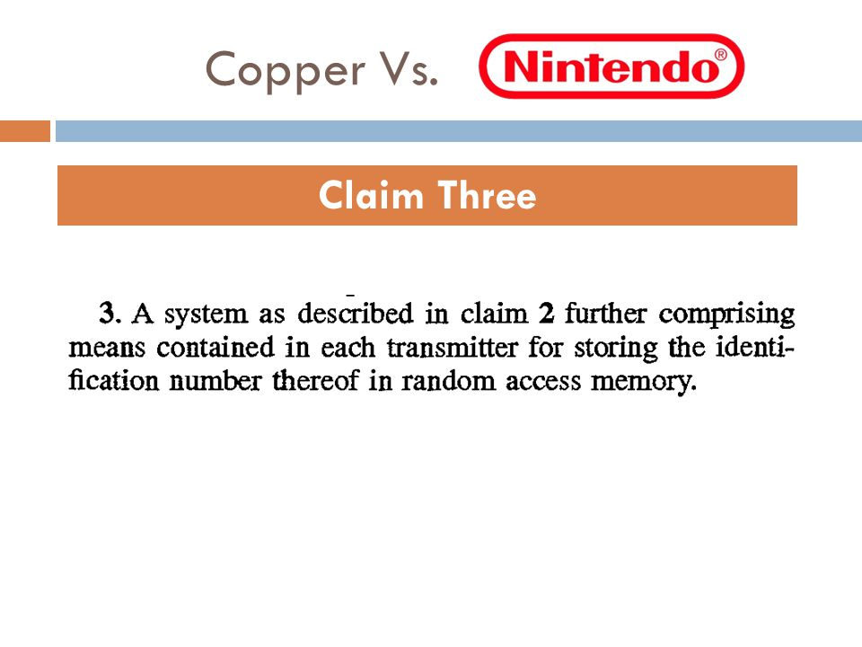 Copper Vs. Claim Three