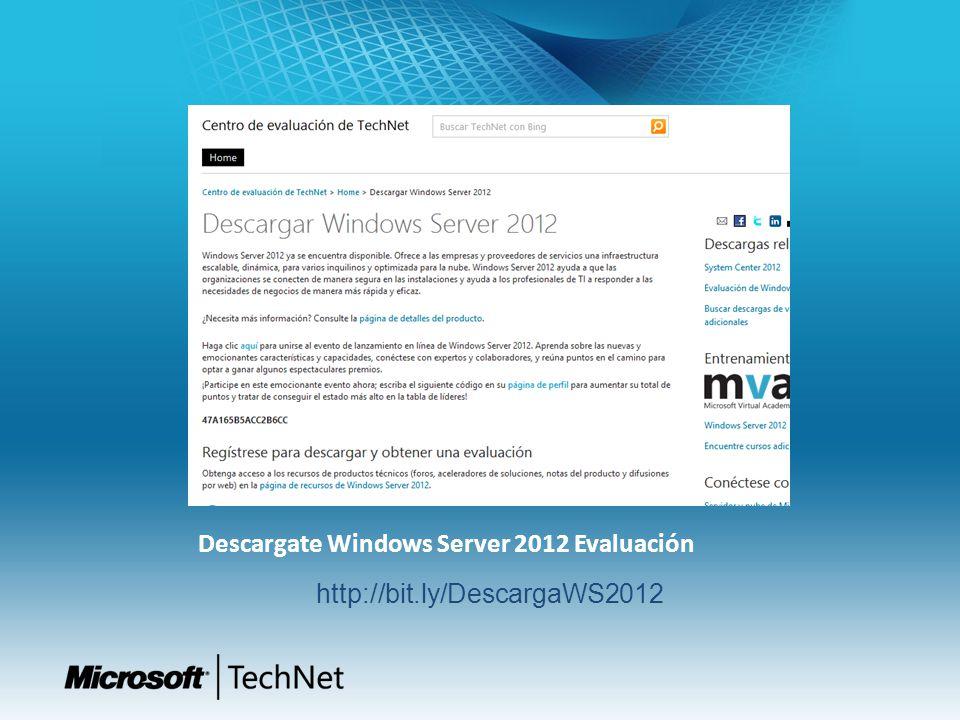 Descargate Windows Server 2012 Evaluación http://bit.ly/DescargaWS2012