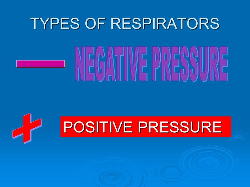 TYPES OF RESPIRATORS POSITIVE PRESSURE