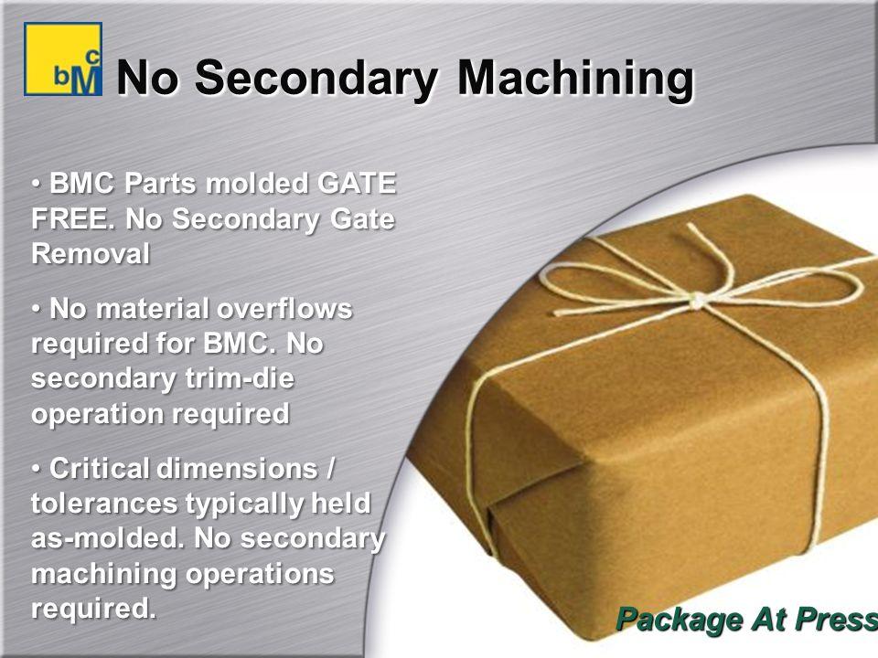 No Secondary Machining BMC Parts molded GATE FREE.