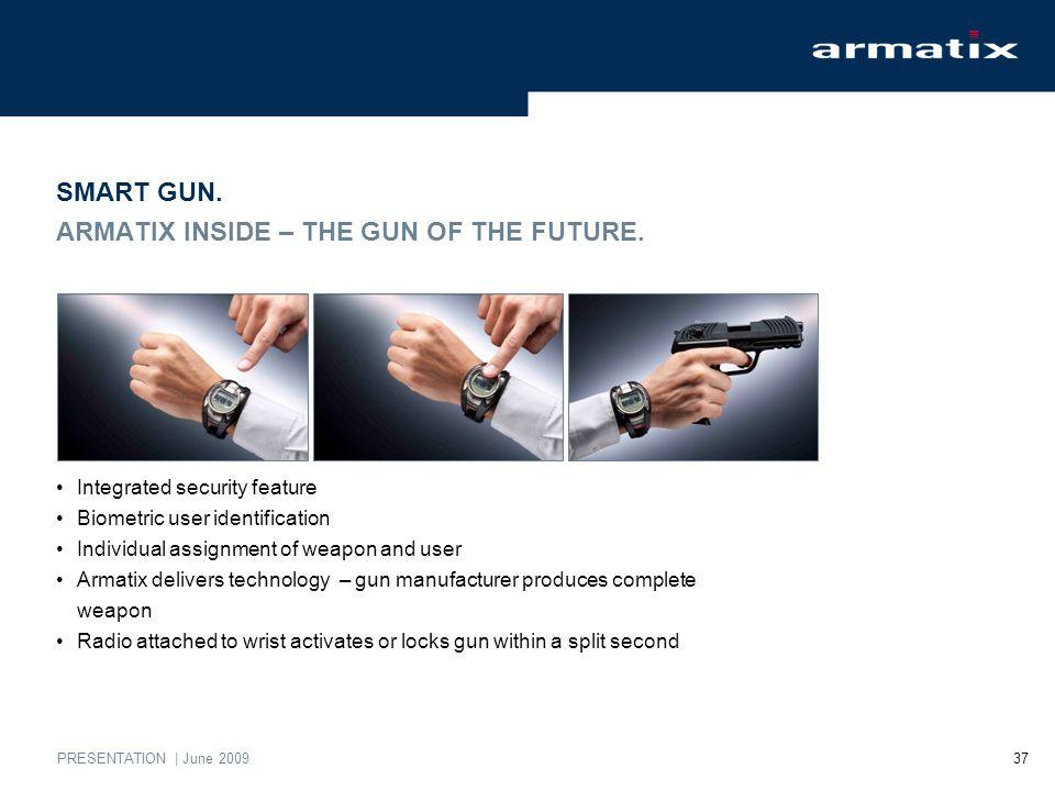 PRESENTATION | June 2009 37 SMART GUN. ARMATIX INSIDE – THE GUN OF THE FUTURE.